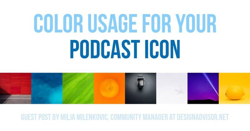 Color choices for podcast cover art can be a science